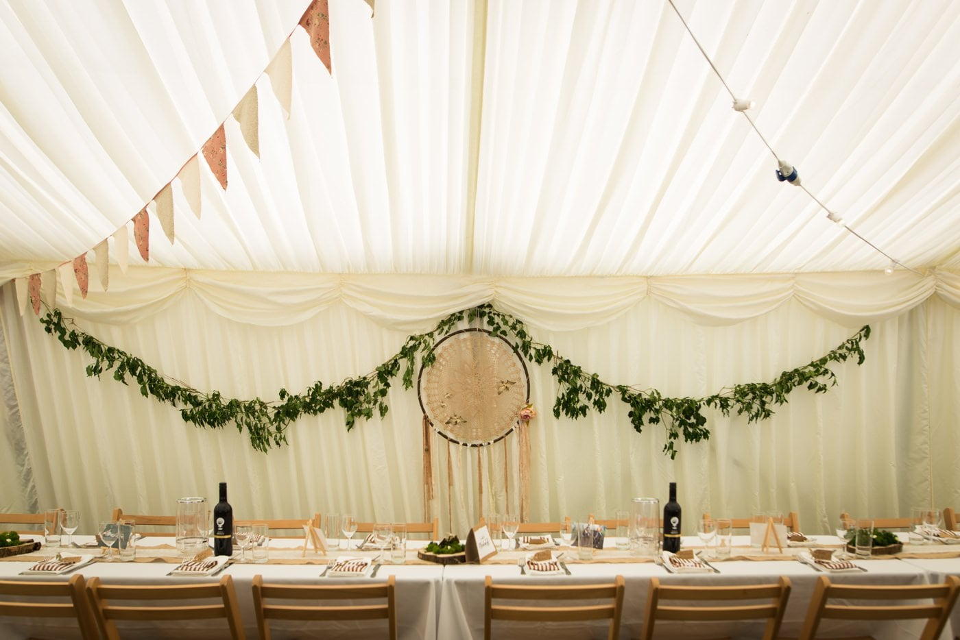 Boho wedding decor pics by Milton Abbas Wedding Photographer