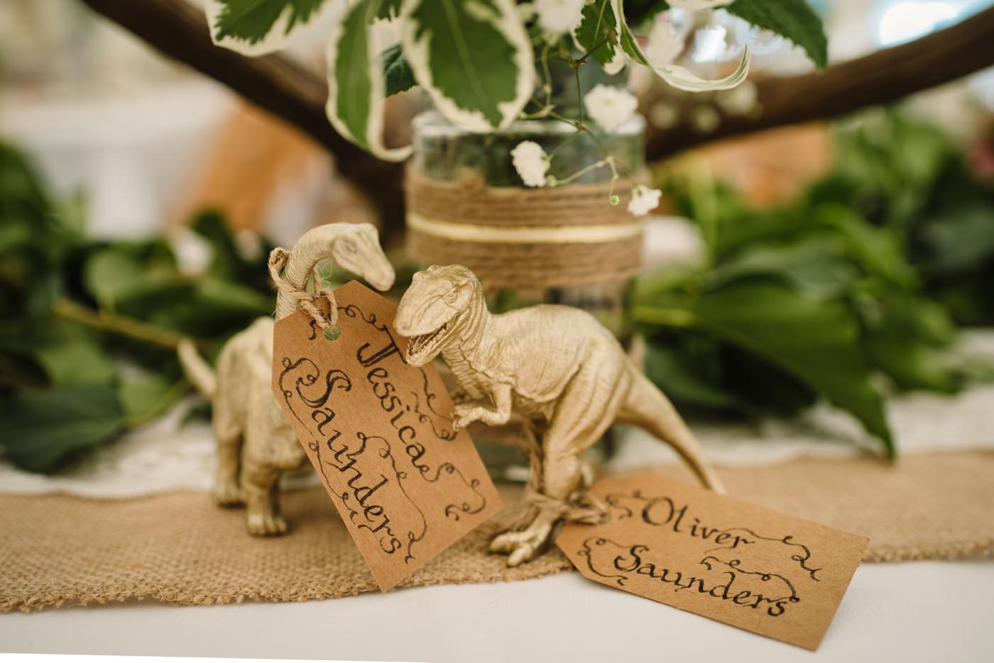 Dinosaur wedding placenames by Milton Abbas Wedding Photographer