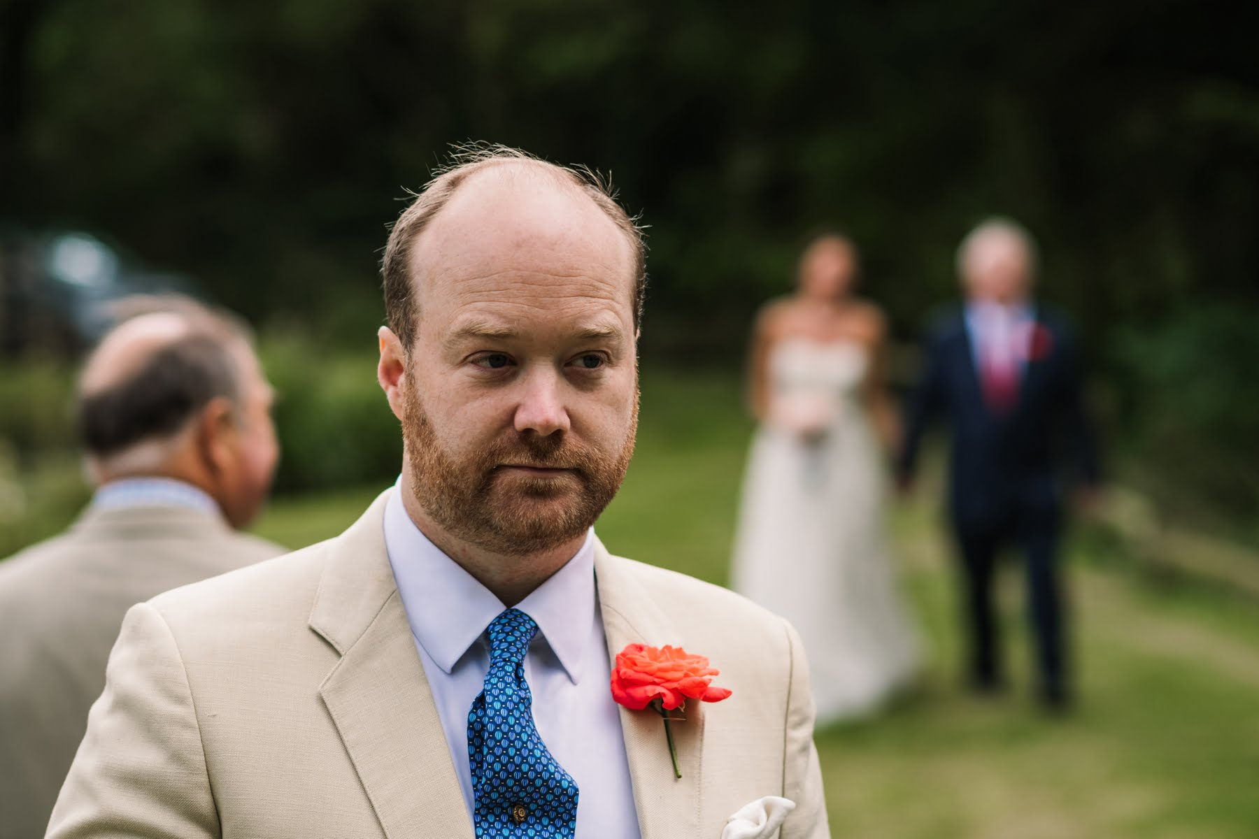 Luccombe Farm Wedding Groom
