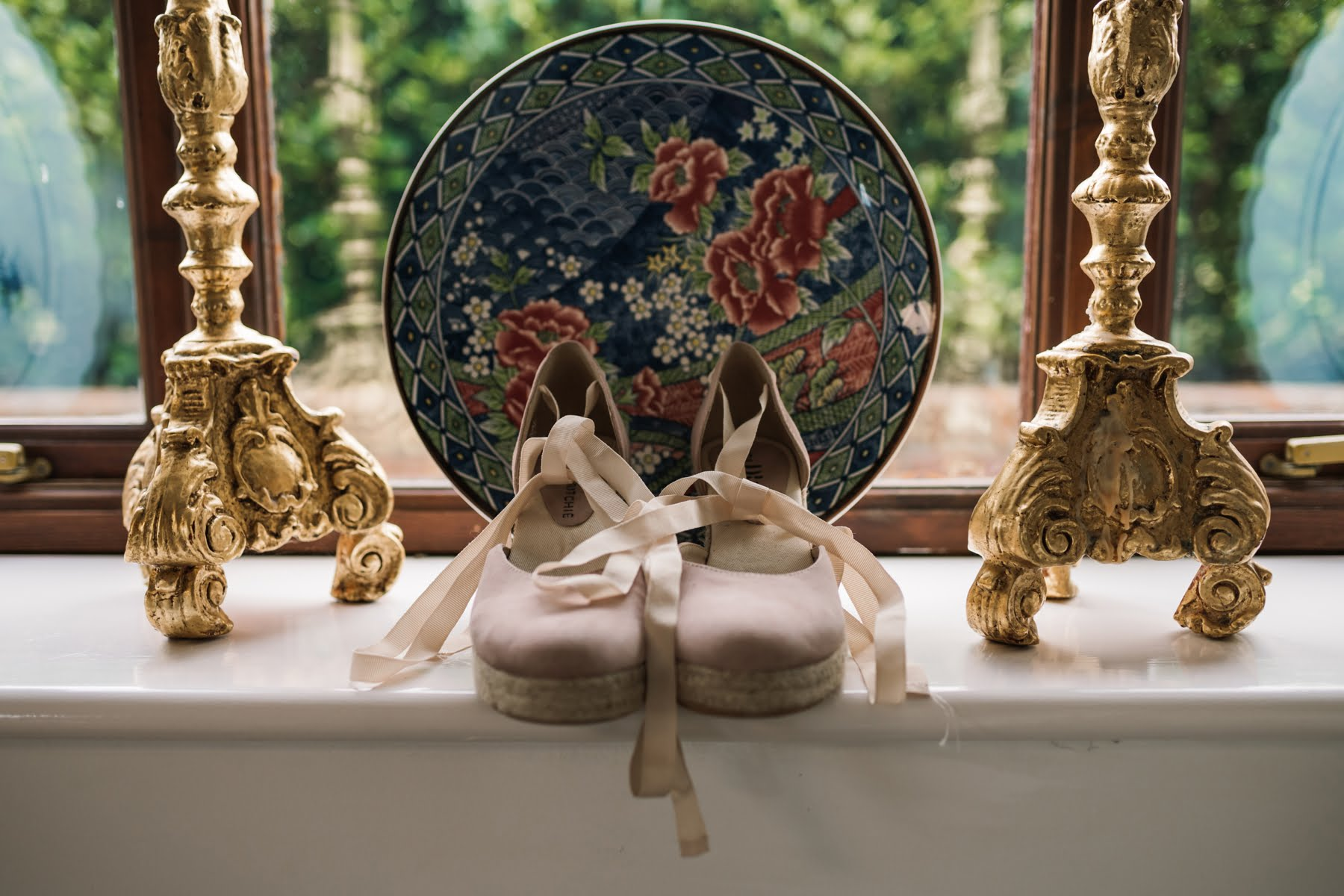 Wedding shoes at Luccombe Farm Wedding PhotographyLuccombe Farm Wedding