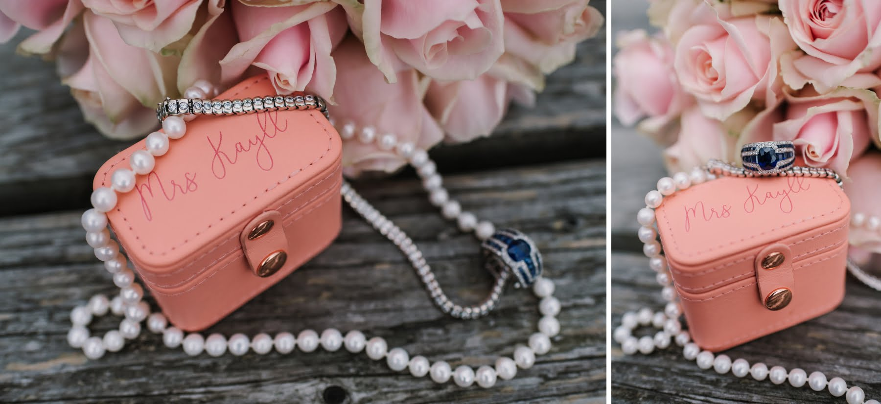 Pink wedding accessories by Luccombe Farm Wedding Photography
