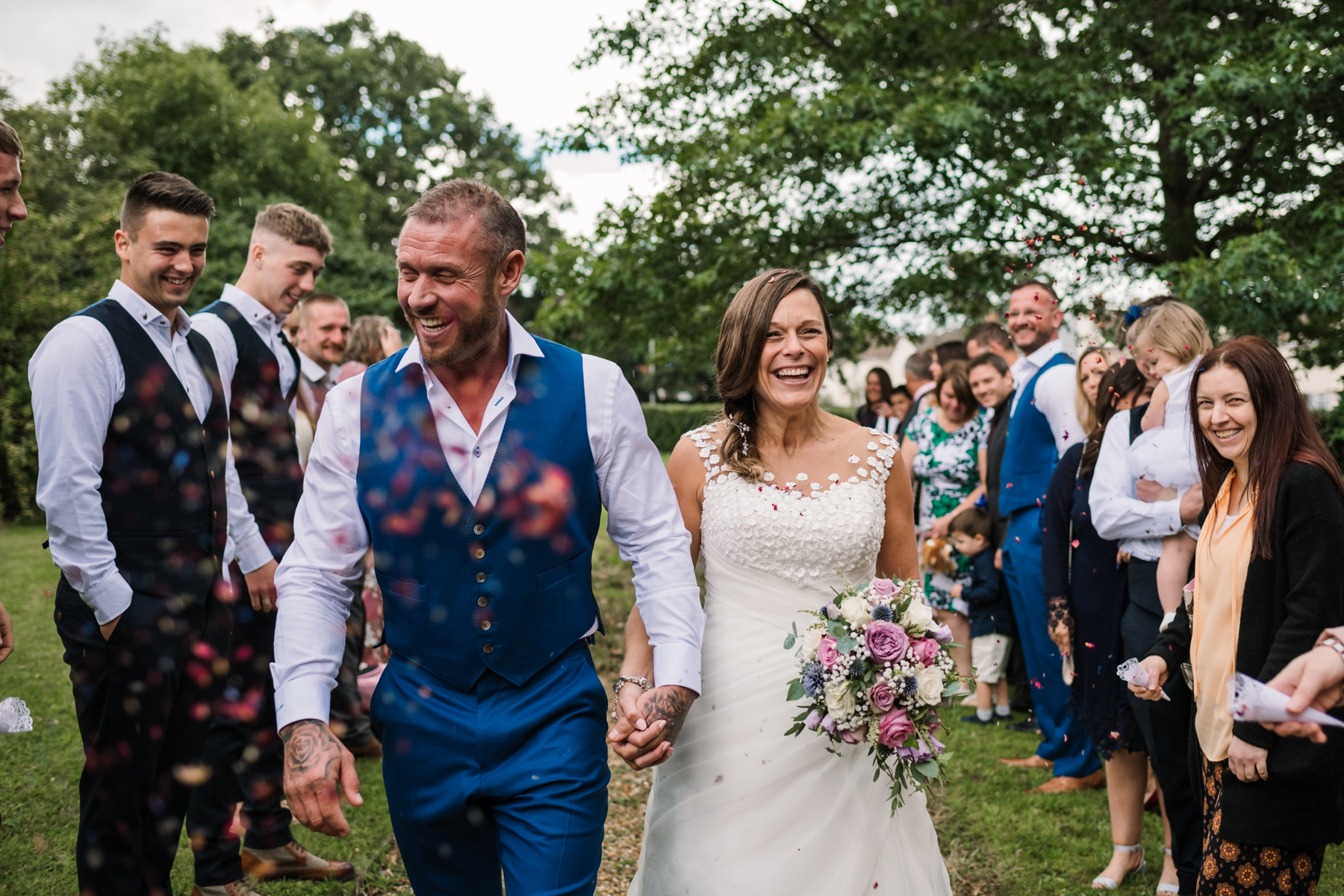 Poole Wedding Photography Confetti