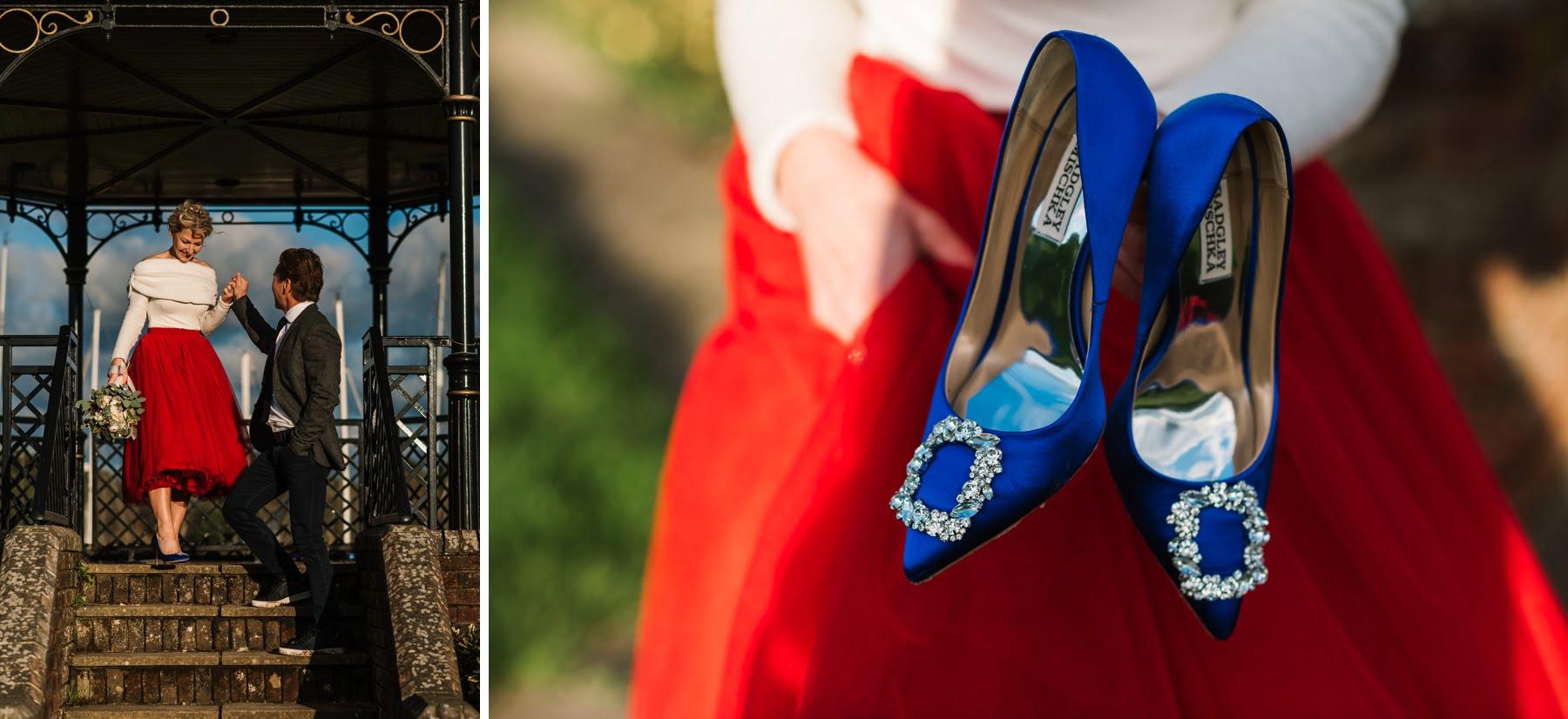 Blue Bridal Shoes similar to Manolo Blahnik