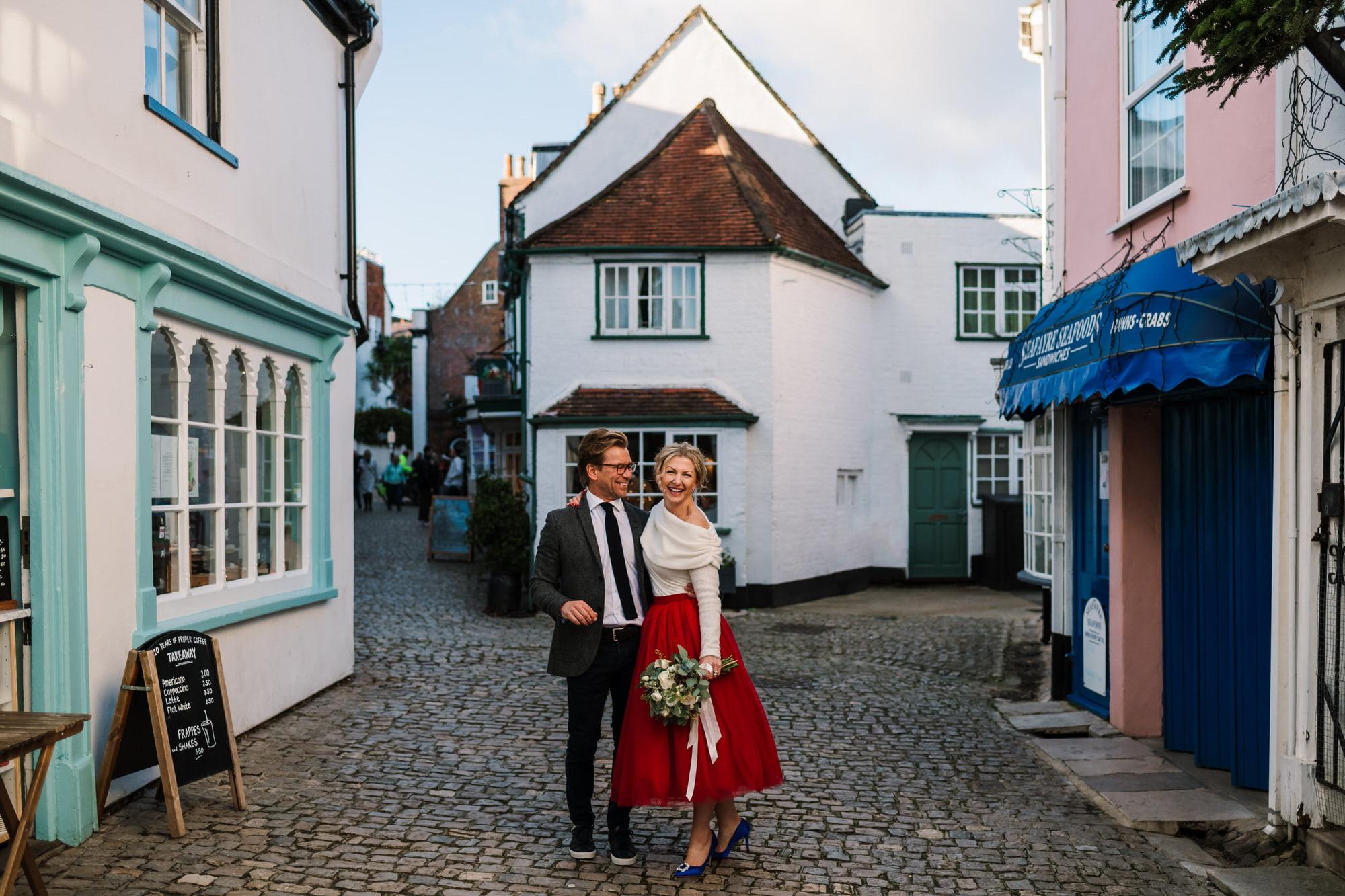 Relaxed photos by Lymington Micro Wedding Photographer