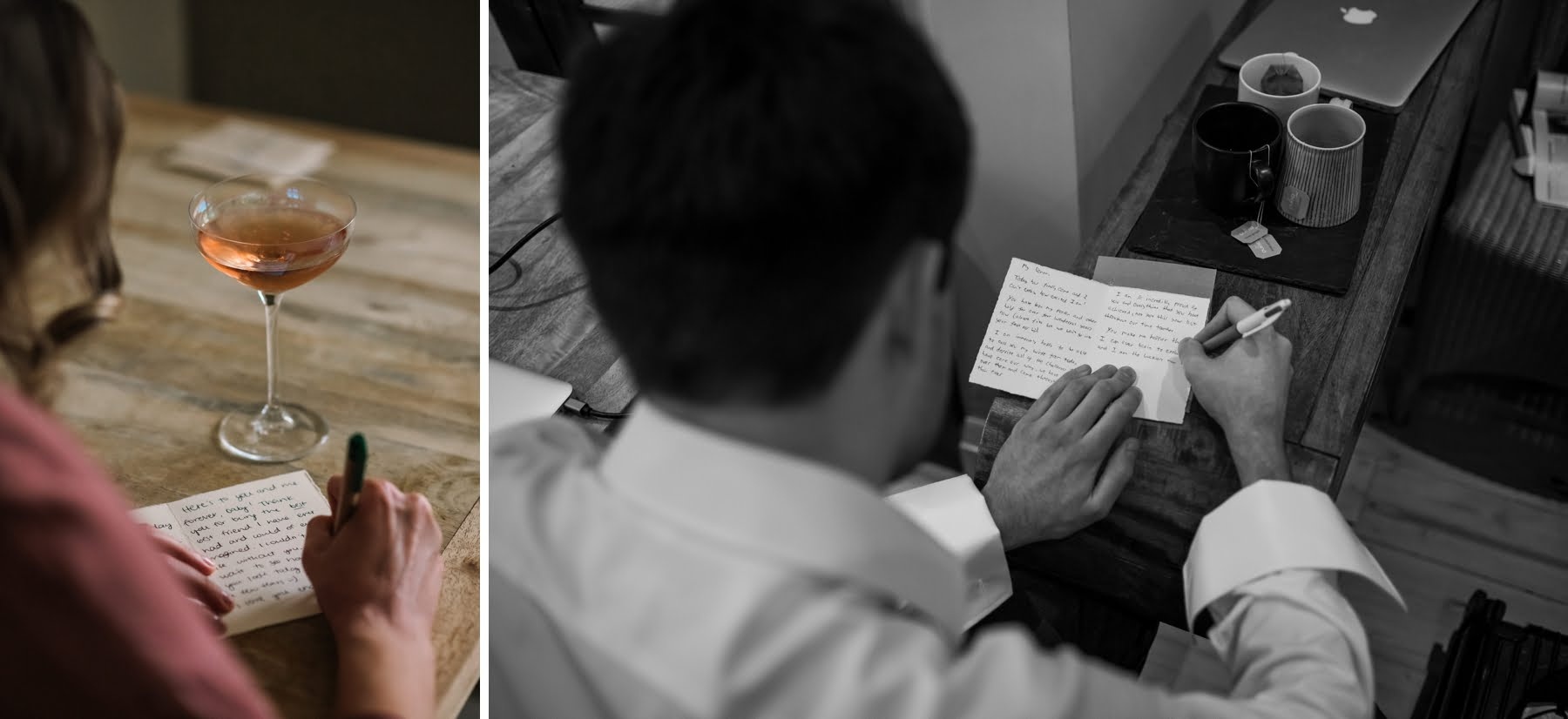 Photo of letter to bride and groom