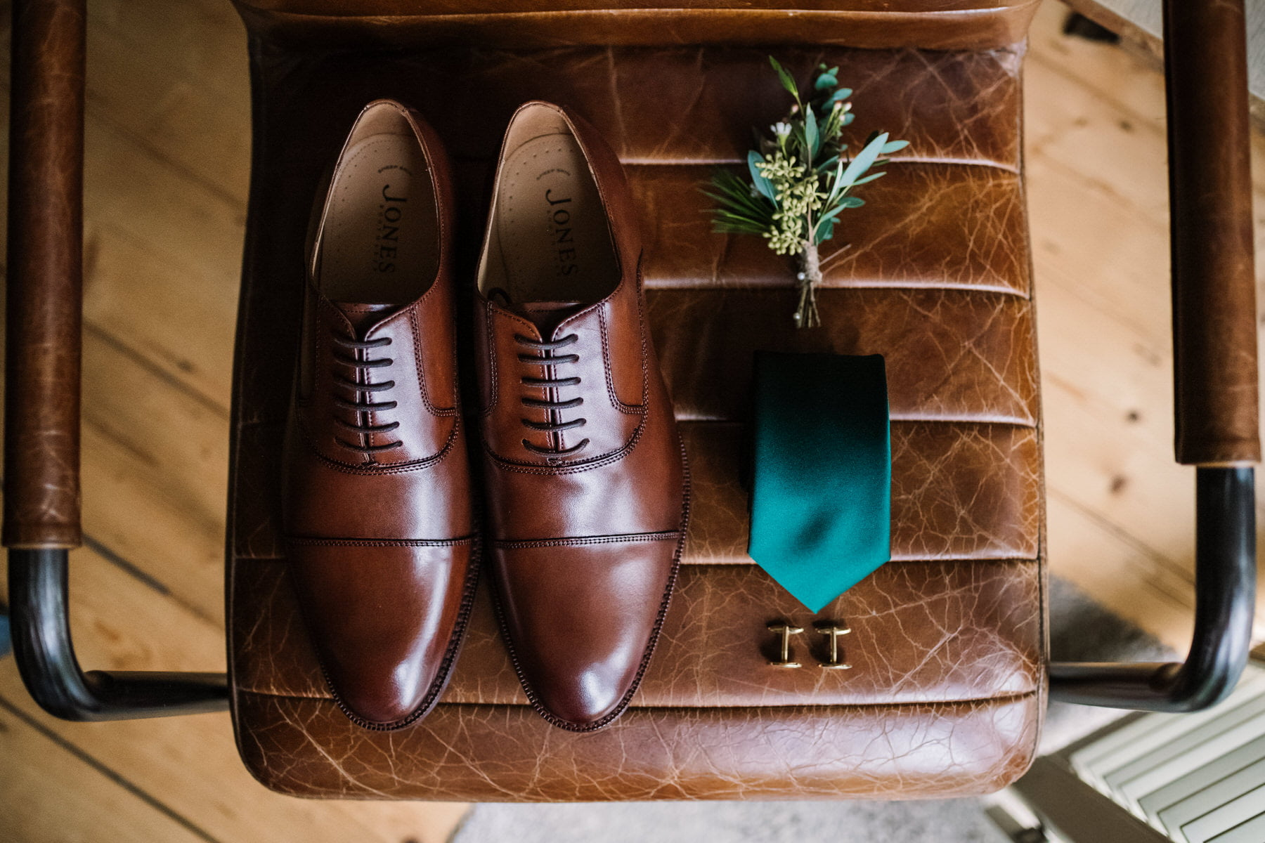 Groom details at New Forest Micro Wedding