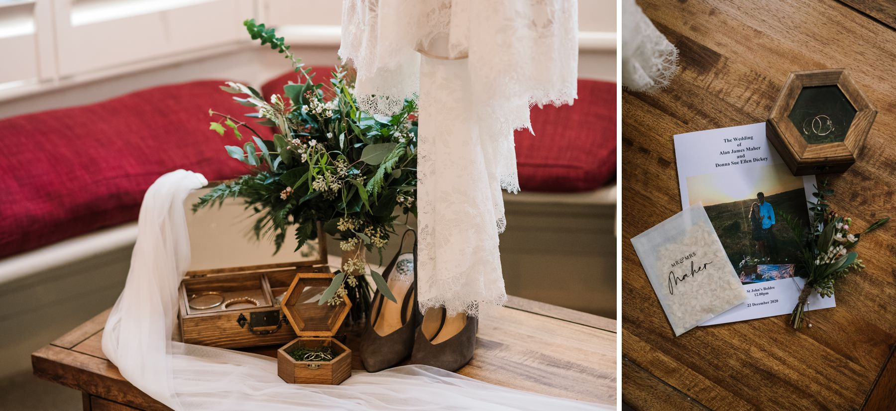 Bridal prep details at New Forest Micro Wedding