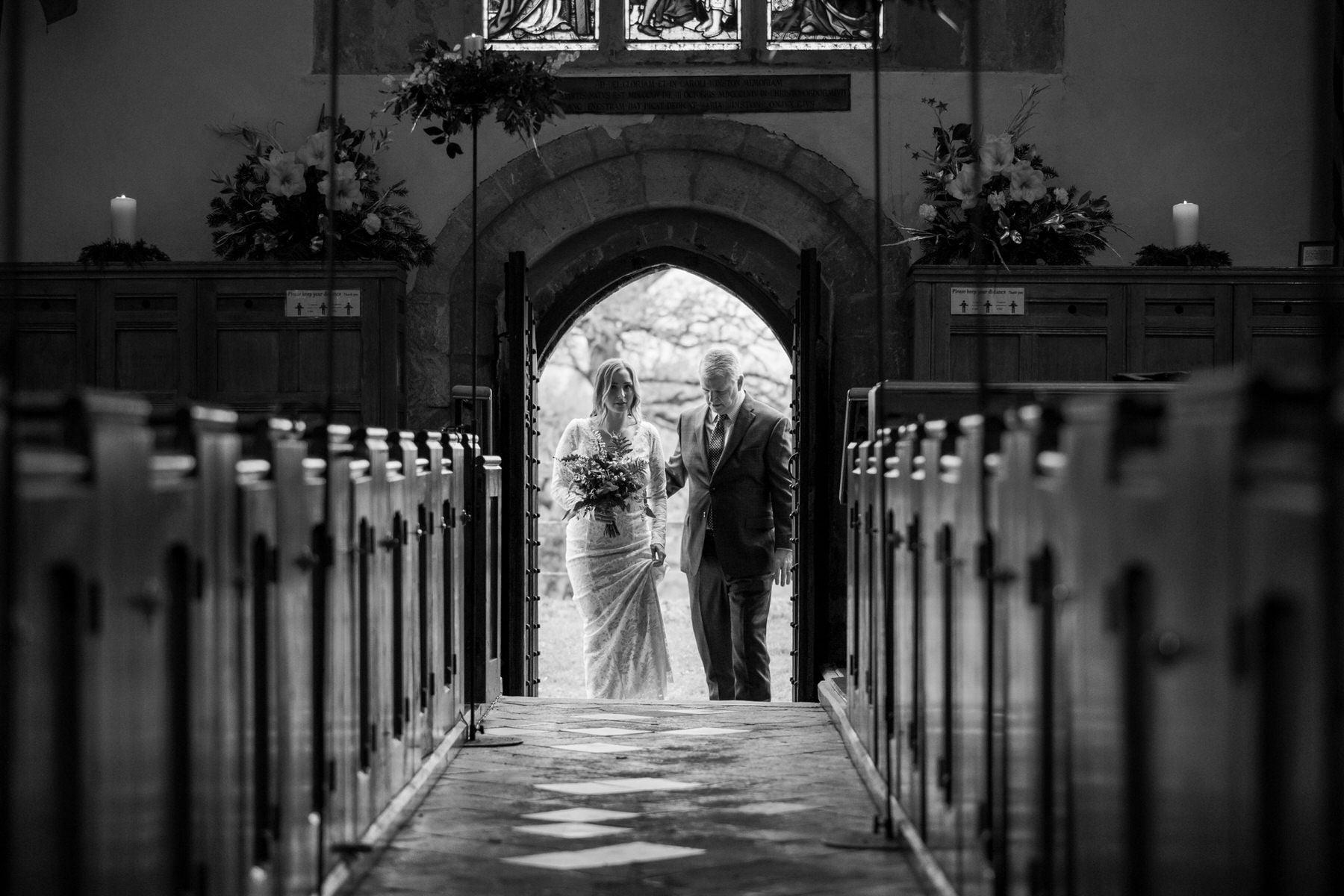 Bridal entrance at St Johns Church Boldre