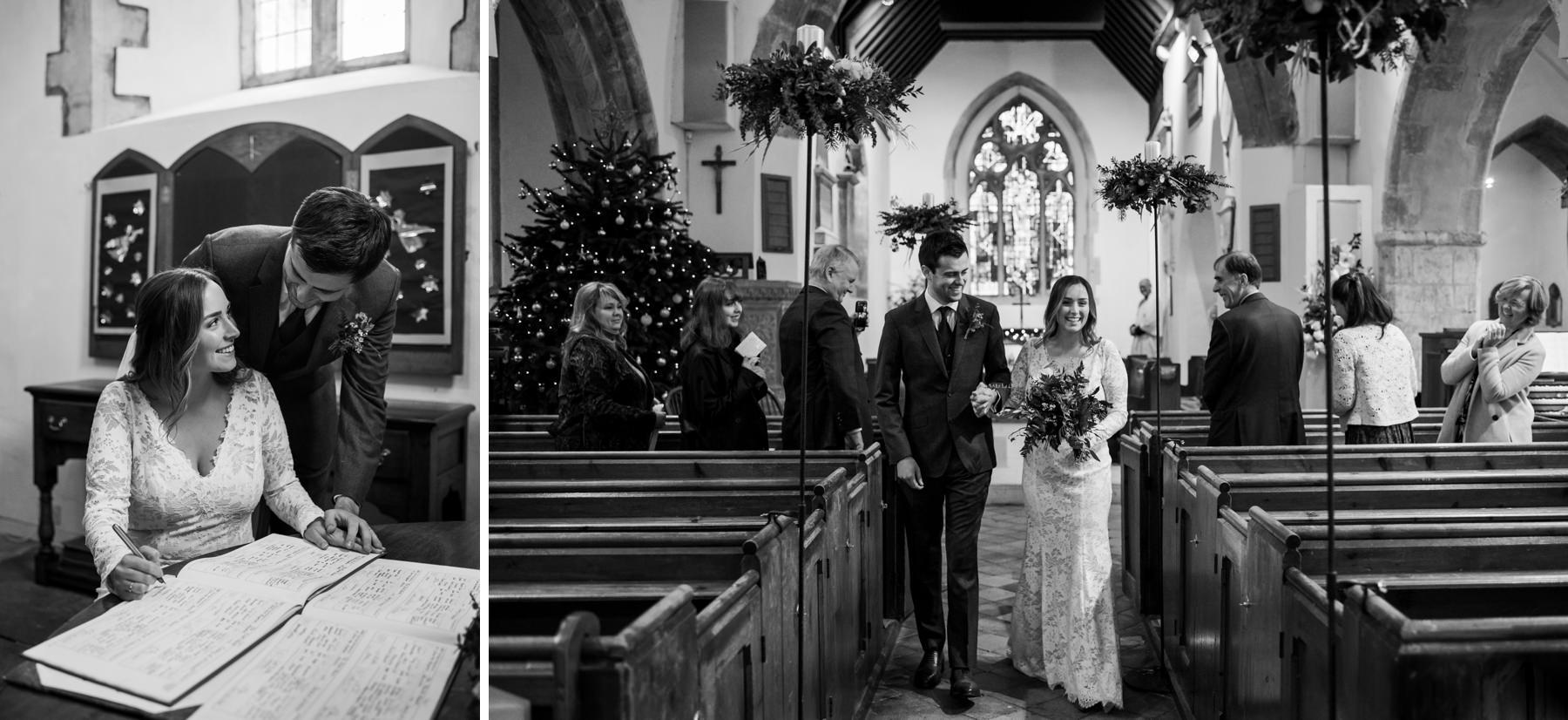 Church Wedding near Lymington