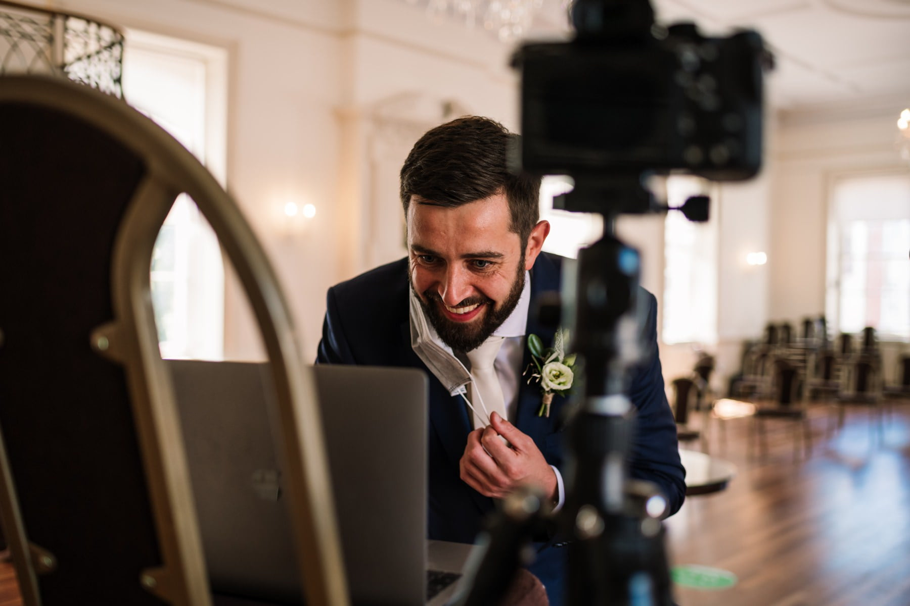 Covid restrictions at Poole Guildhall Wedding Photography