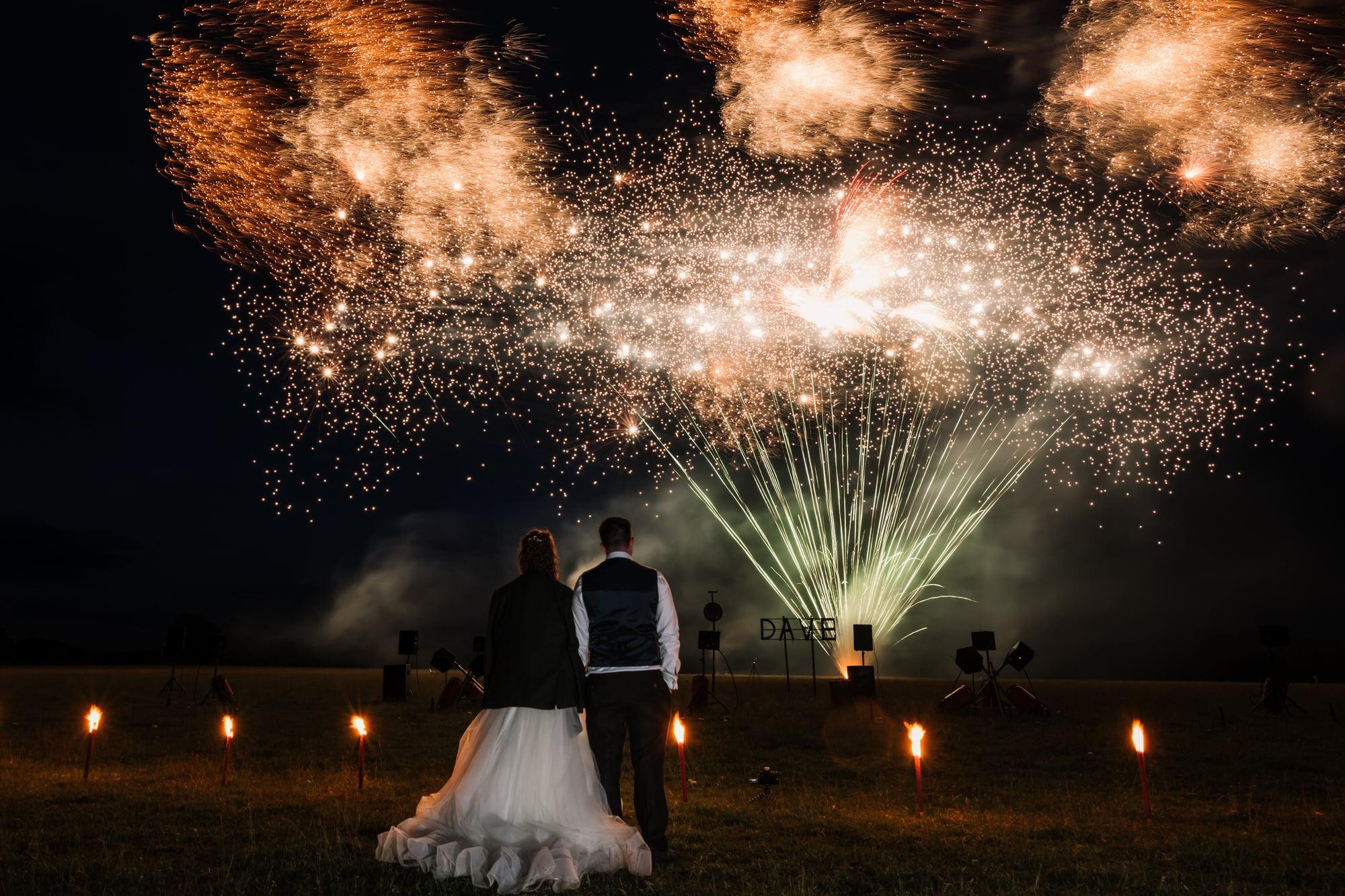 Larmer Tree Wedding Fireworks