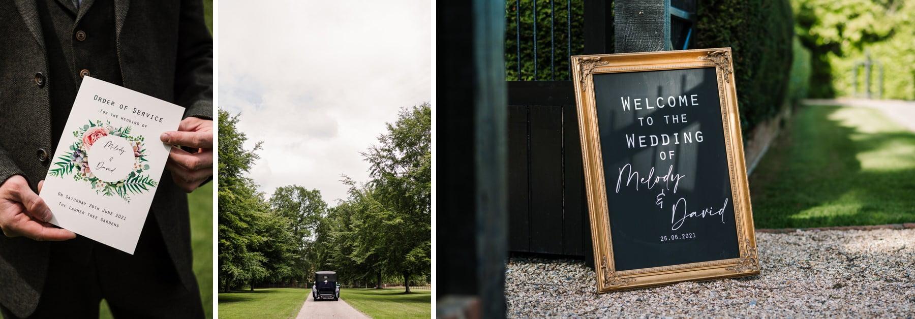 Larmer Tree wedding photos