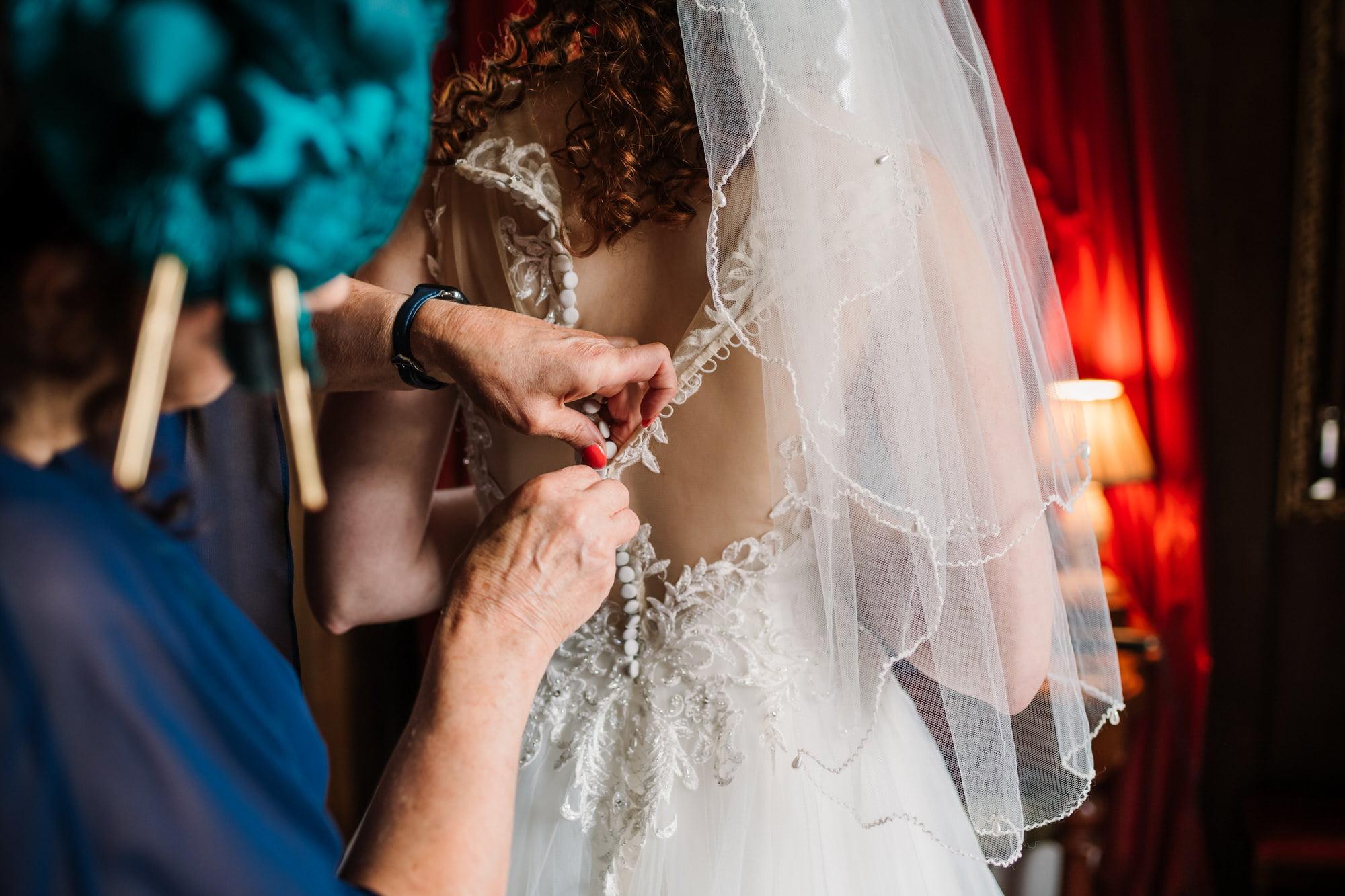 Bridal prep photos for Larmer Tree Gardens wedding