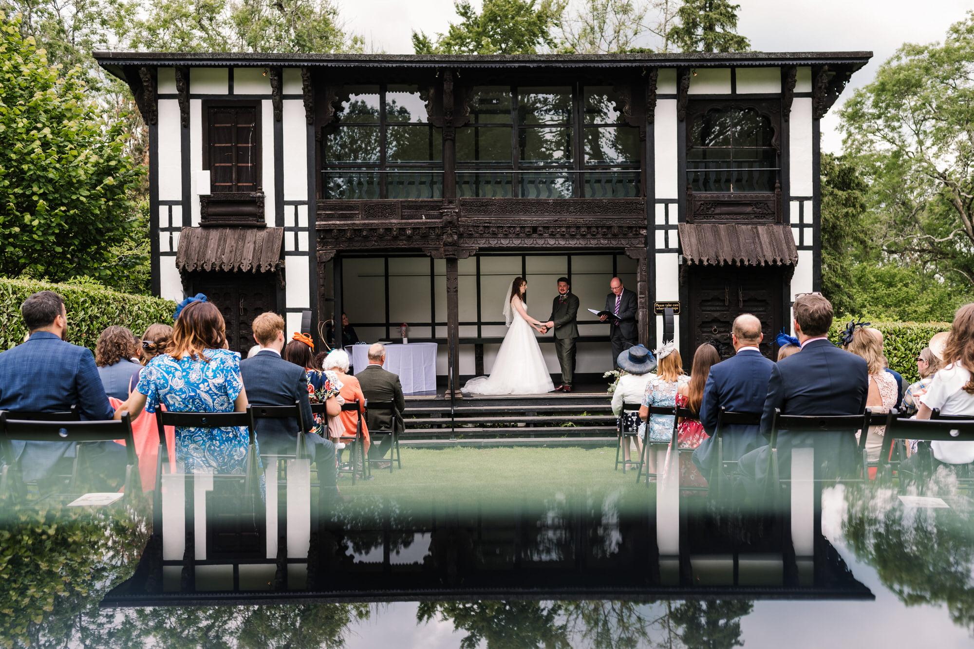 Wedding ceremony at Larmer Tree Wedding