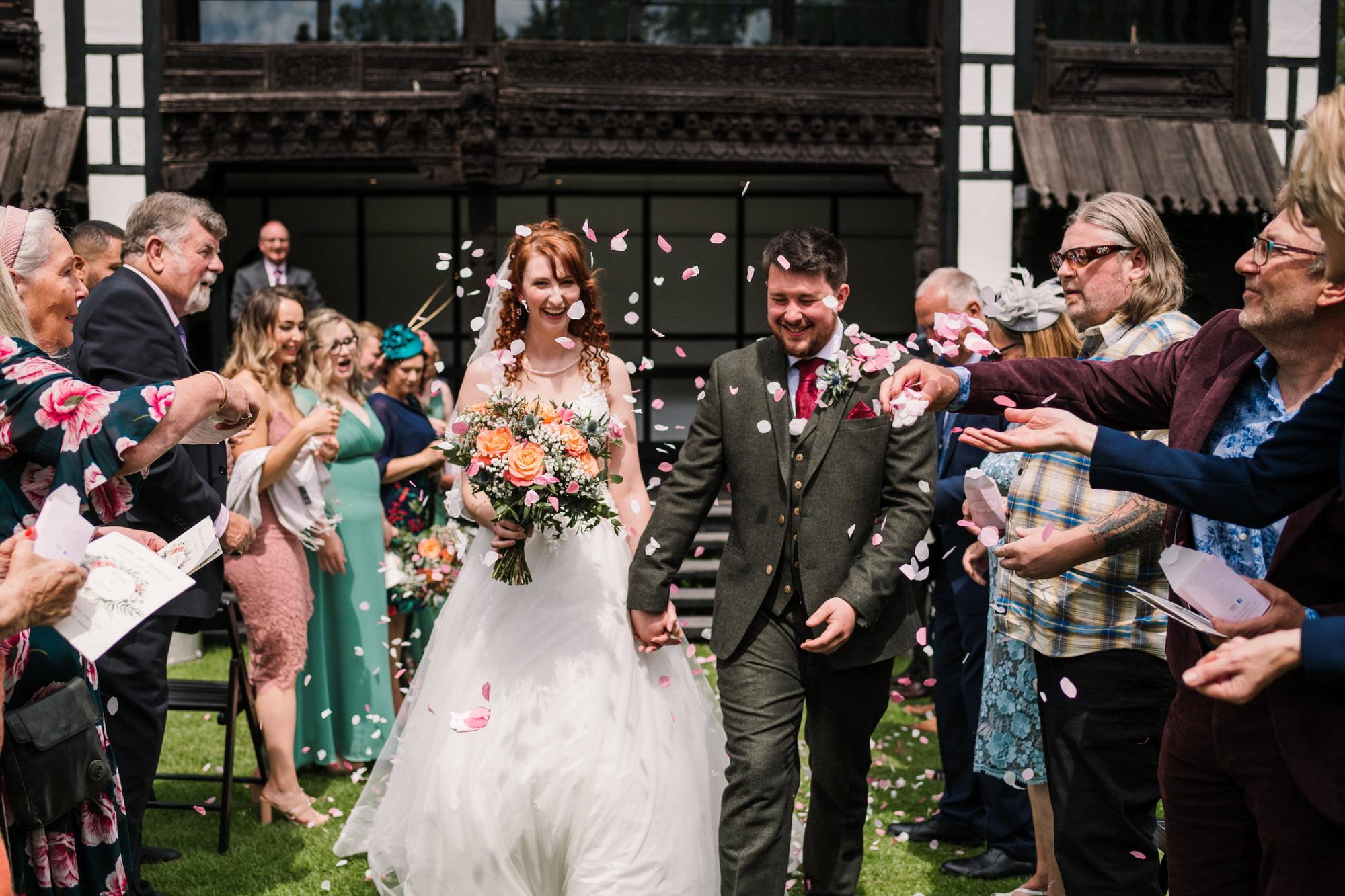 Confetti at Larmer Tree Wedding