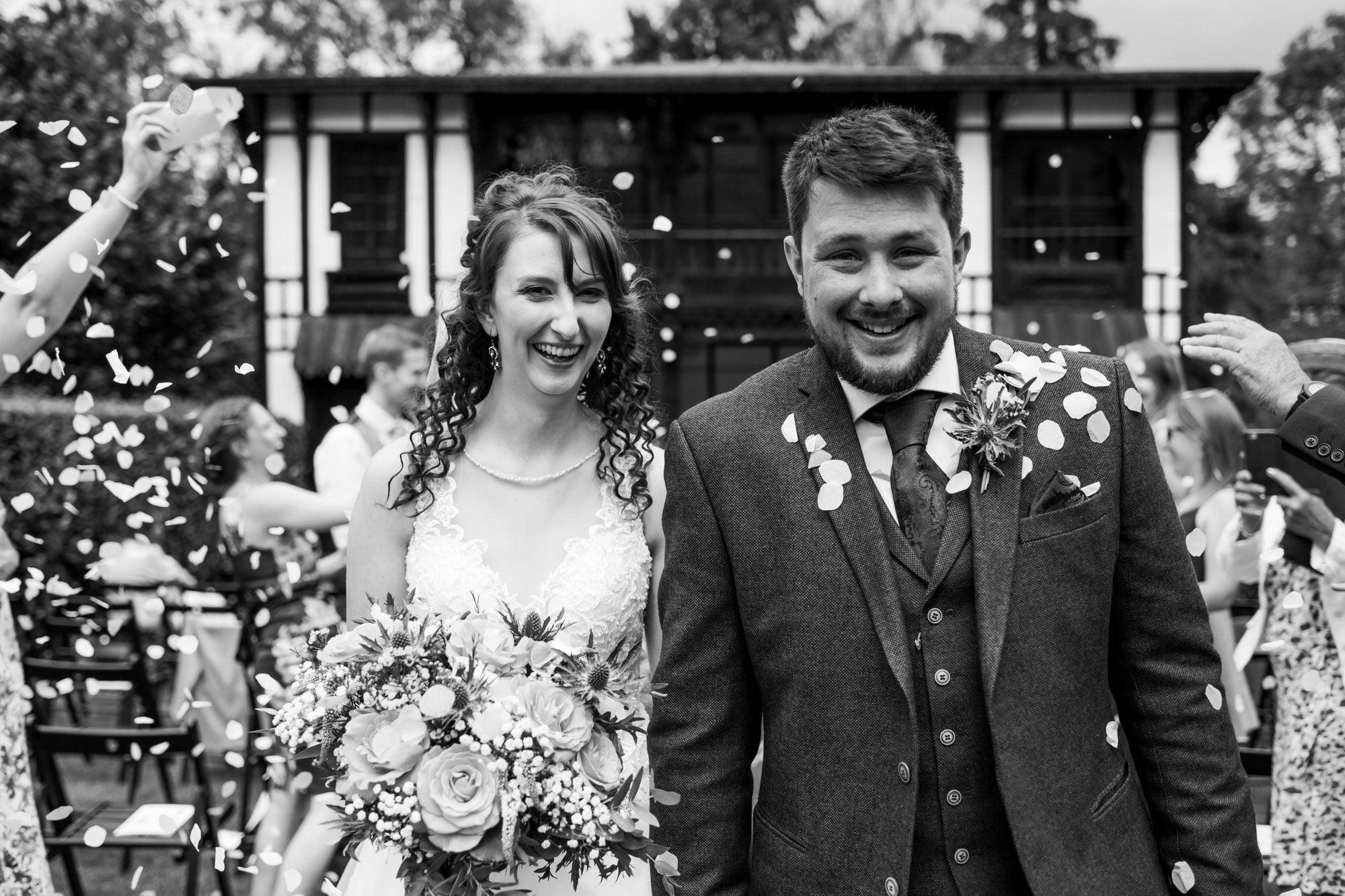 Larmer Tree Wedding confetti