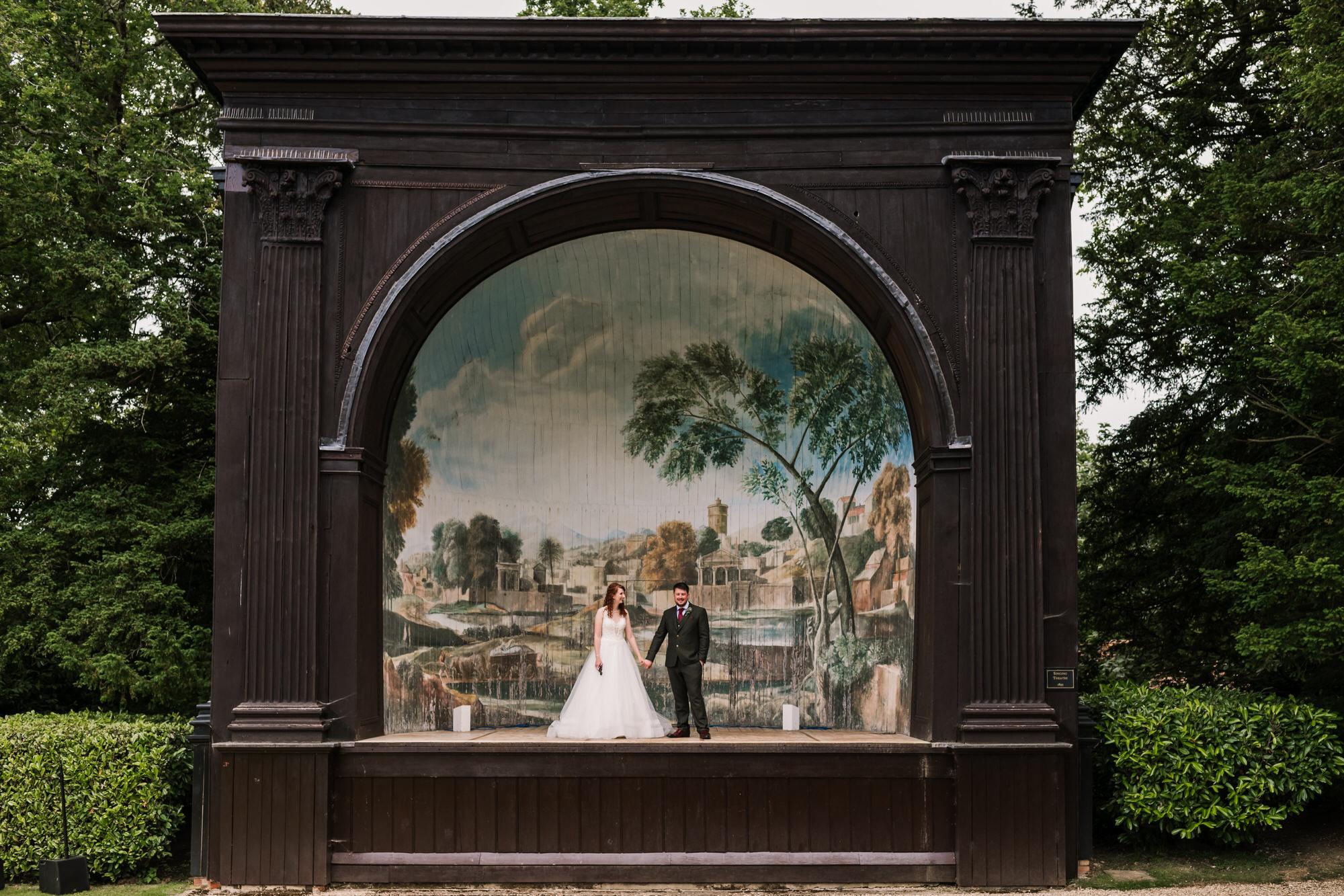 Bride and Groom at Larmer Tree Wedding