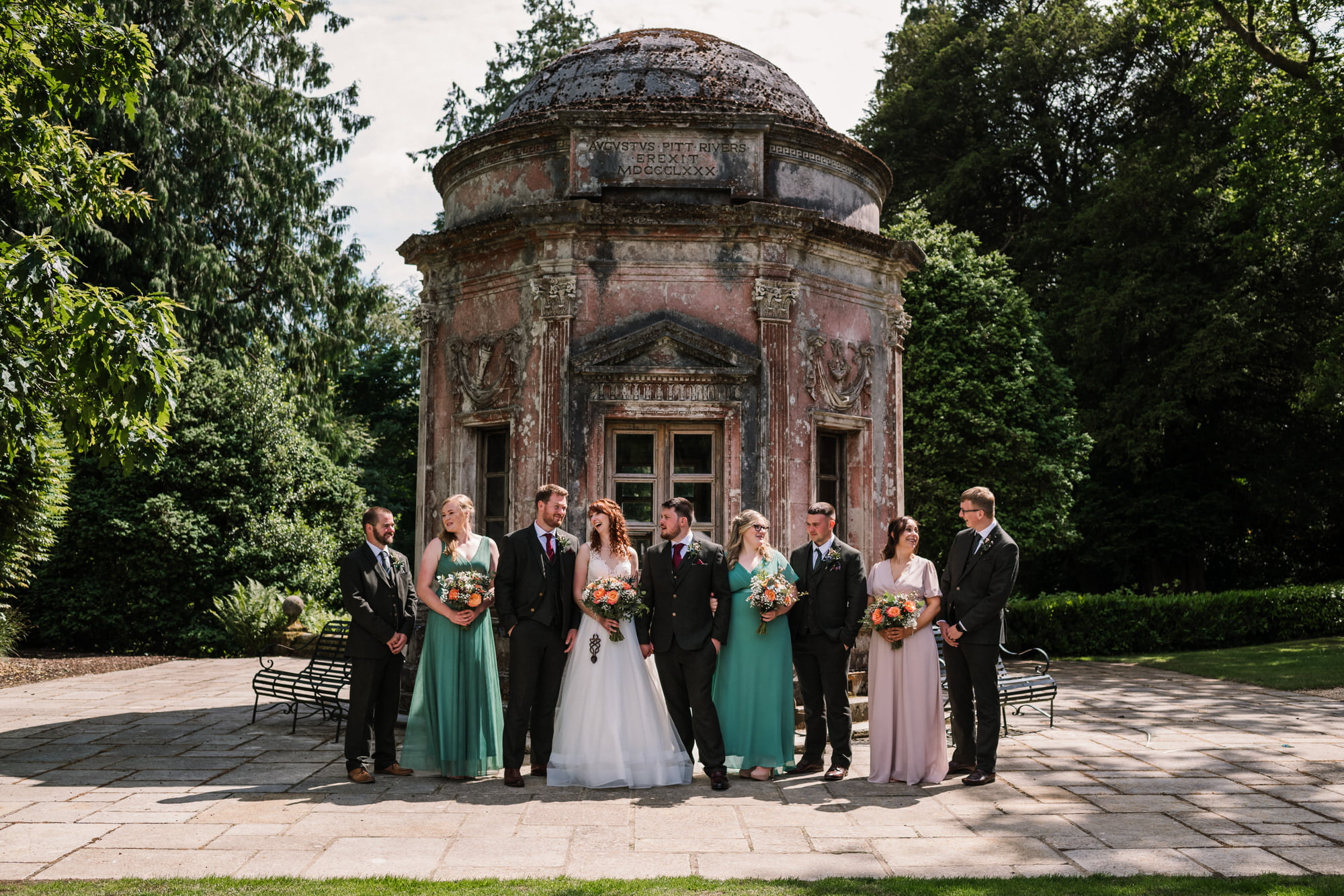 Bridal party at Larmer Tree Wedding
