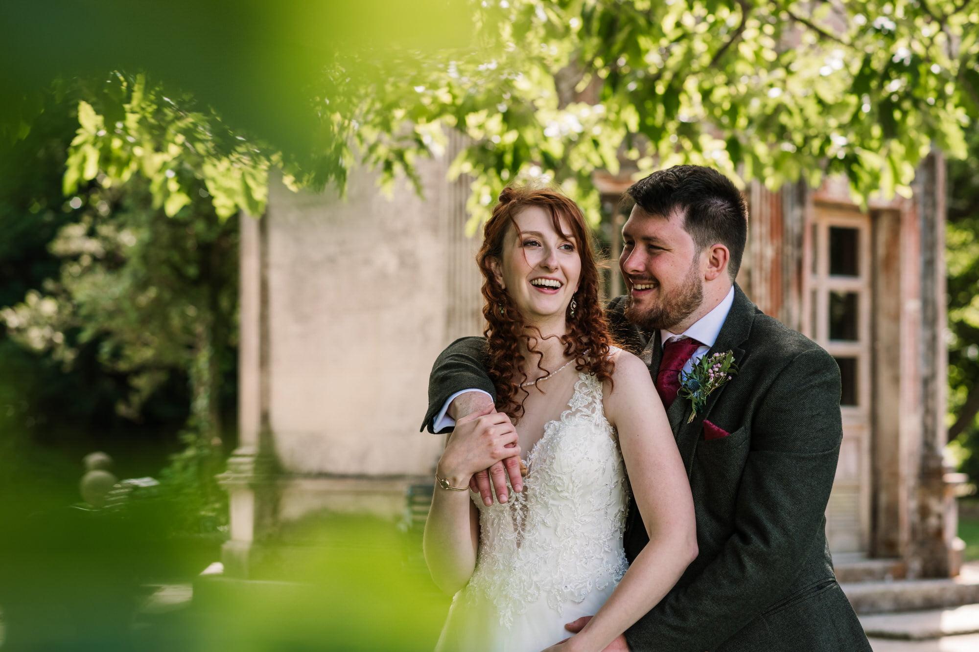 Couple photos at Larmer Tree Wedding