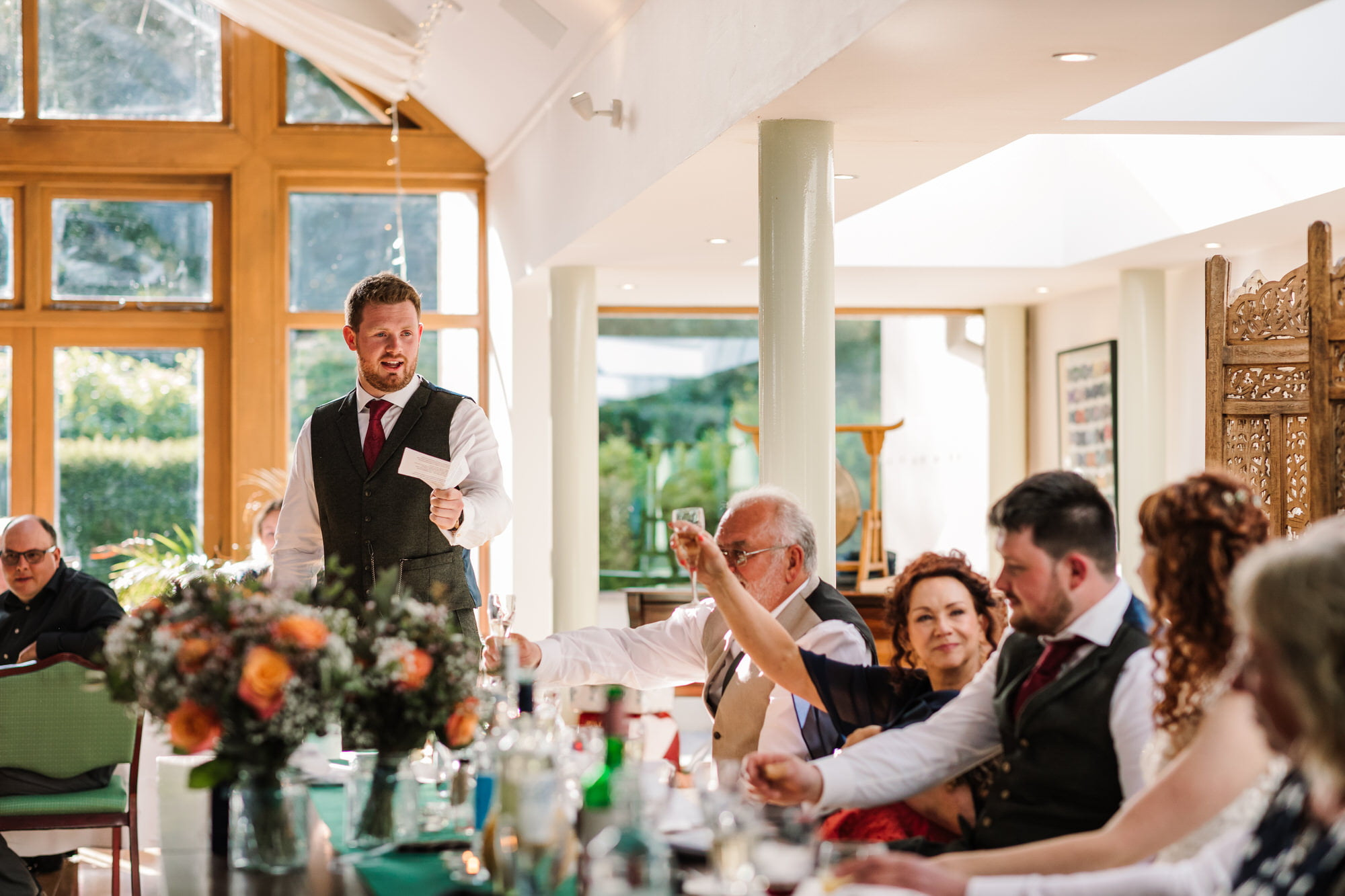 Speeches at Larmer Tree Wedding