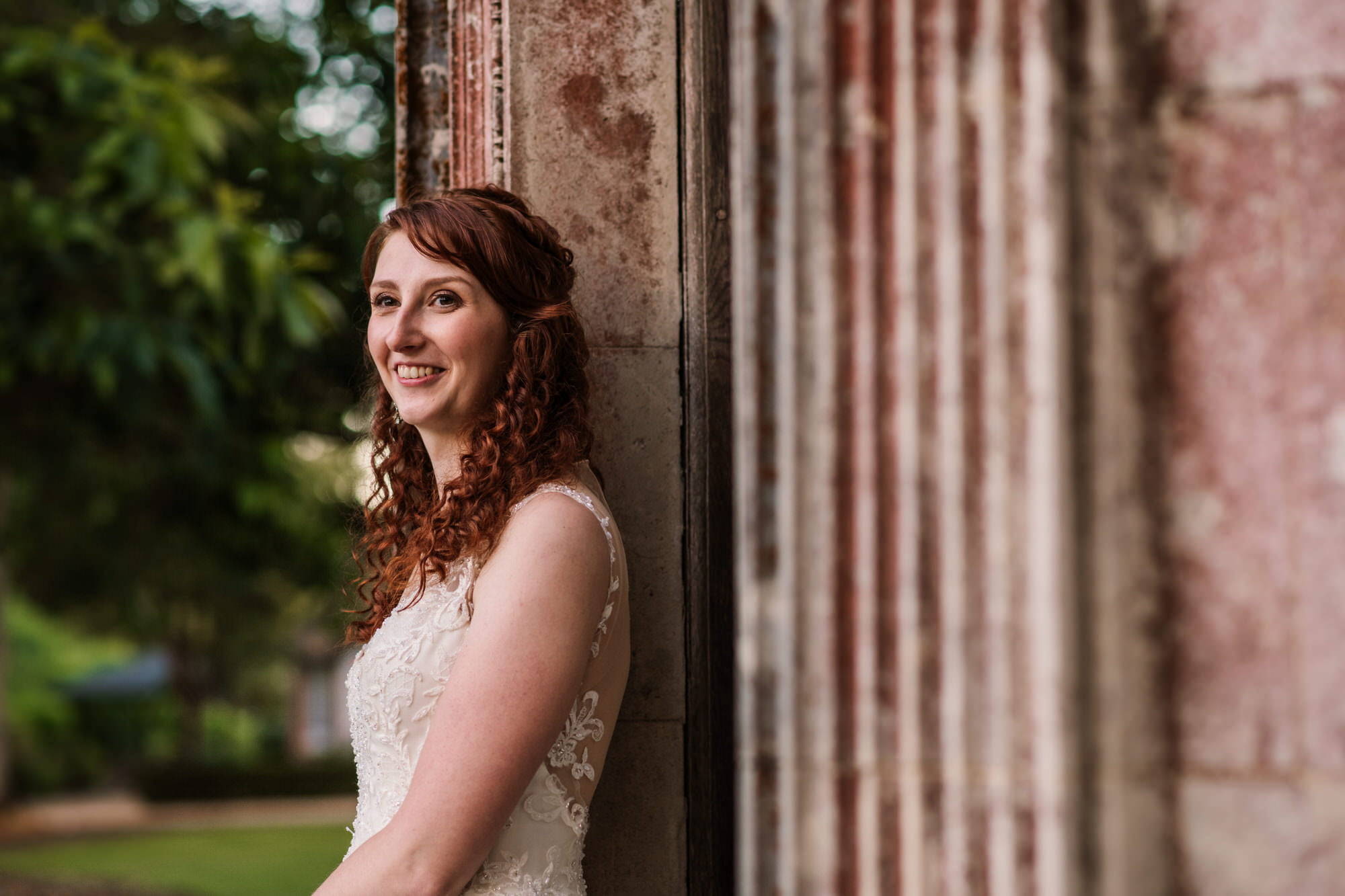 Larmer Tree Wedding Bride
